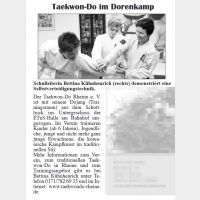 Taekwon-Do im Dorenkamp (Dorenkamp Echo März 2016)